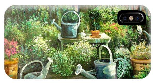 Shelley's Garden Phone Case by Sally Seago