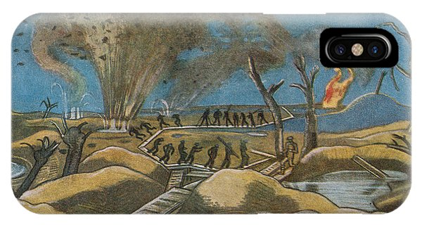 Damage iPhone Case - Shelling The Duckboards by Paul Nash