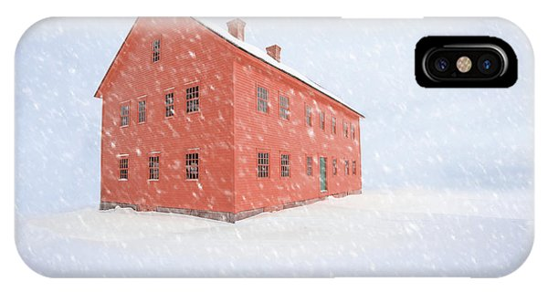 New England Barn iPhone Case - Shelter From The Storm by Edward Fielding