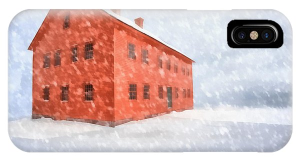 New England Barn iPhone Case - Shelter From The Storm Painting by Edward Fielding