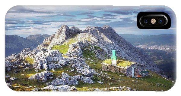 Shelter In The Top Of Urkiola Mountains IPhone Case