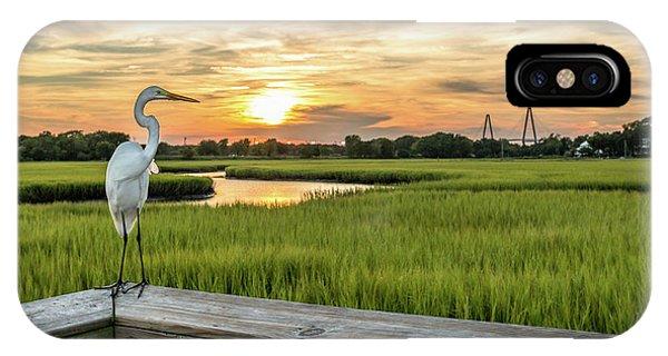 Shem Creek Pier Sunset IPhone Case