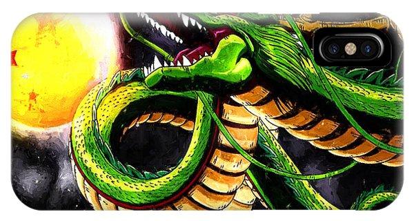 Shenron iPhone Case - Shenron The Eternal Dragon by Jesse Plankman