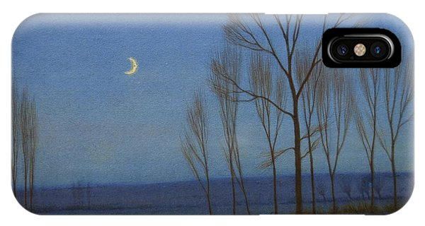 Shepherd And Sheep At Moonlight IPhone Case