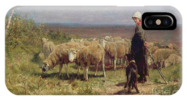 Agriculture iPhone Case - Shepherdess by Anton Mauve