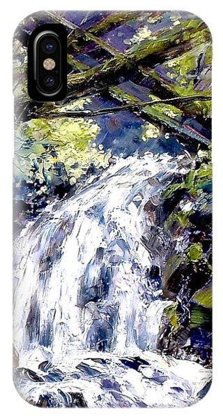 iPhone Case - Shepherds Dell Falls Coumbia Gorge Or by Jim Gola