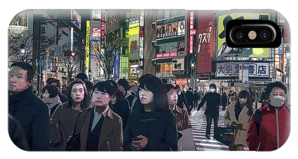 Shibuya Crossing, Tokyo Japan Poster 2 IPhone Case