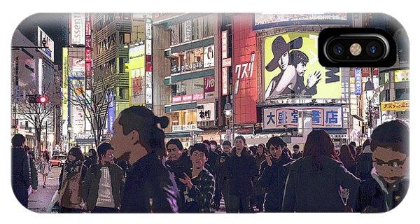 Shibuya Crossing, Tokyo Japan Poster 3 IPhone Case