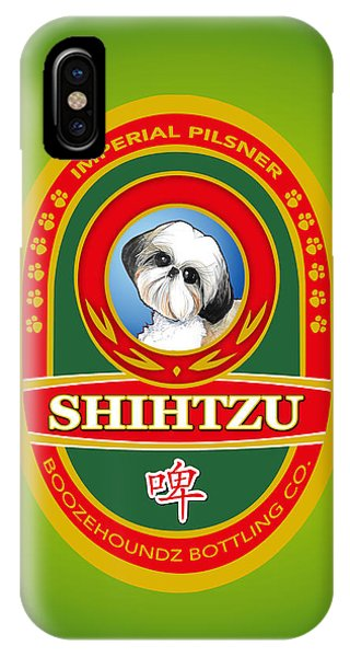 Pub iPhone Case - Shih Tzu Imperial Pilsner by John LaFree