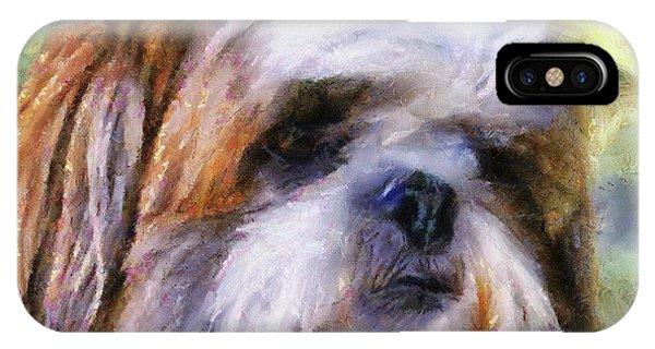 Shih Tzu Portrait IPhone Case