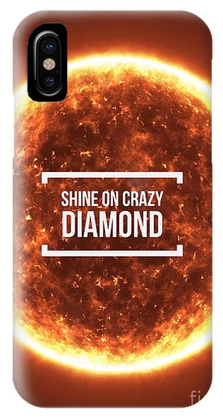 Fire Ball iPhone Case - Shine On Crazy Diamond by Edward Fielding