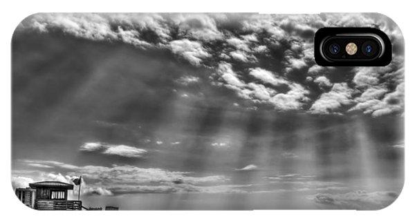 Sun Rays iPhone Case - Shine On You Crazy Diamond by Evelina Kremsdorf