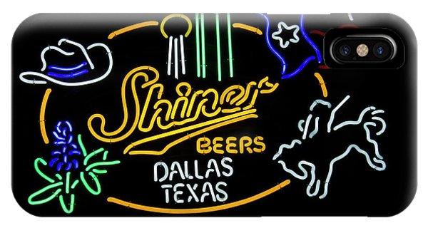 Shiner Beers Dallas Texas IPhone Case