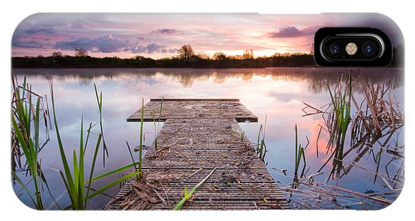 Shinewater Lake Sunrise IPhone Case