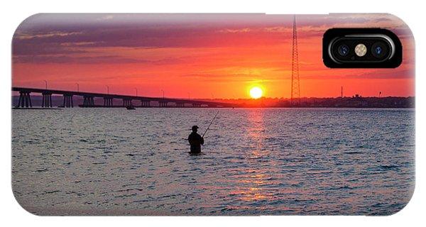 Shinnecock Fisherman At Sunset IPhone Case