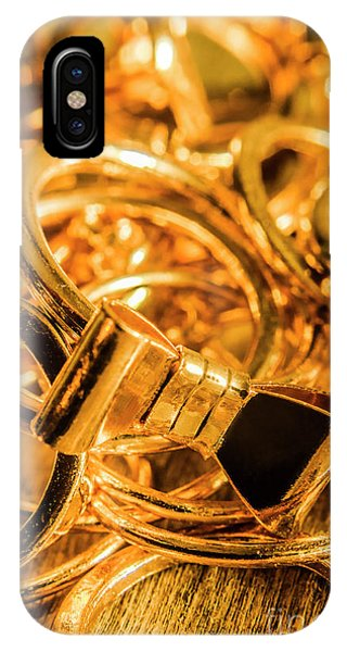 Ceremony iPhone Case - Shiny Gold Rings by Jorgo Photography - Wall Art Gallery