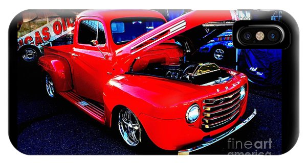 Shiny Red Ford Truck IPhone Case