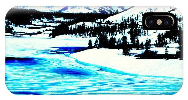 Shiny Snow Magic On Lake IPhone Case