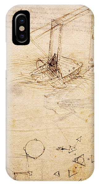 Ship, From Codex Trivulzianus, Folio 2 Recto IPhone Case
