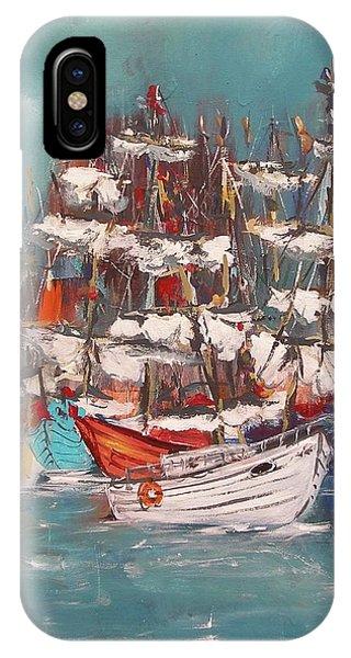 Ship Harbor IPhone Case