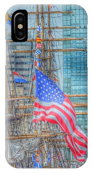 Ship In Baltimore Harbor IPhone Case