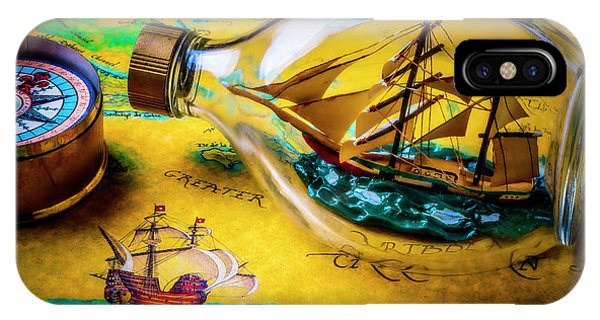 Navigation iPhone Case - Ship In The Bottle by Garry Gay