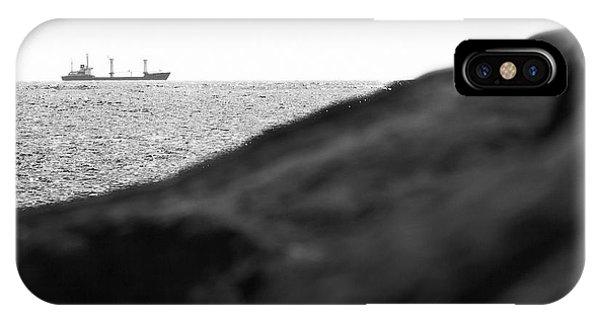 Ship On The Horizon. IPhone Case
