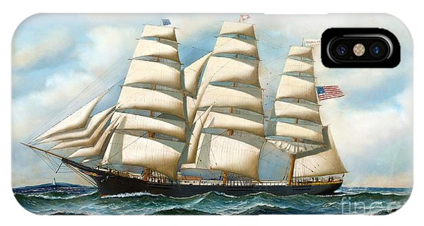 Ship Young America At Sea IPhone Case