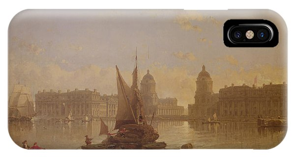 Shipping On The Thames At Greenwich IPhone Case