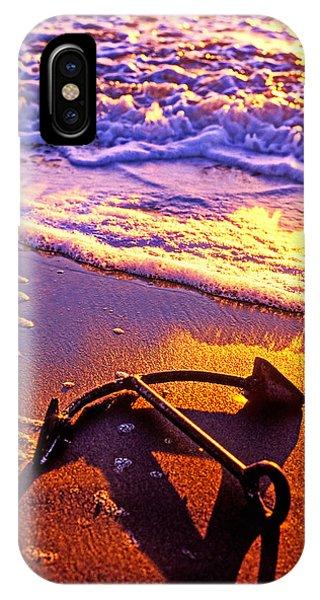 Ships Anchor On Beach IPhone Case