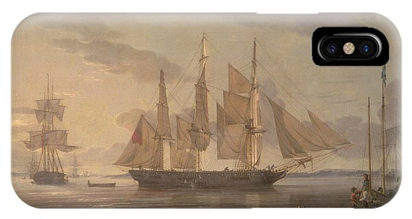 Ships In Harbor IPhone Case