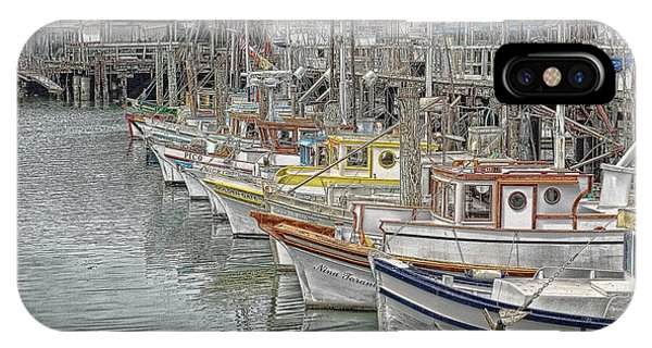 Ships In The Harbor IPhone Case