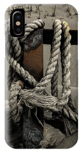 IPhone Case featuring the photograph Shipwecked Rope by Fred Denner