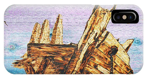 Shipwreck On Wood IPhone Case