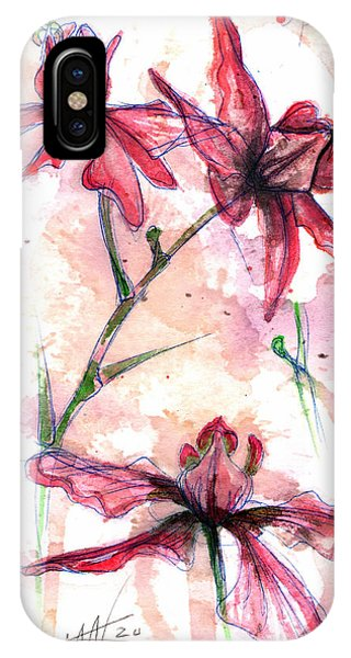 IPhone Case featuring the painting Shiraz Orchids I by Ashley Kujan