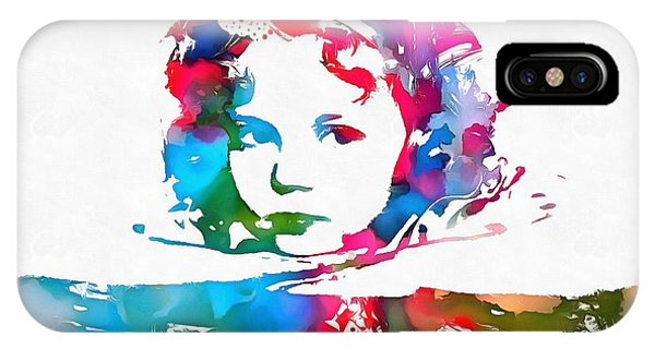 Shirley Temple Watercolor Paint Splatter IPhone Case