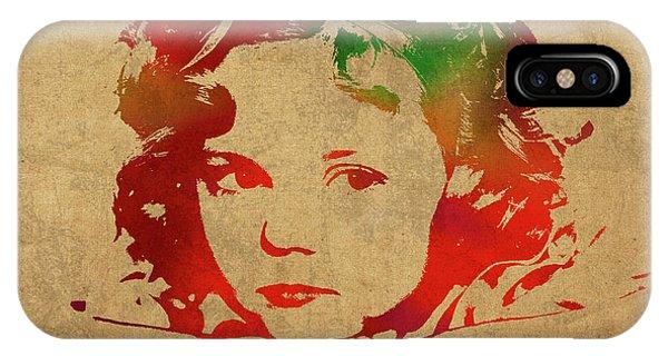 Shirley Temple Watercolor Portrait IPhone Case