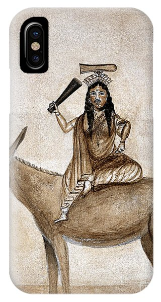 Shitala Mara, Hindu Goddess Of Smallpox IPhone Case