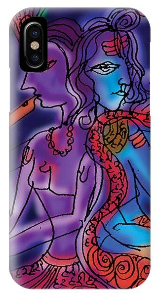 Shiva And Krishna IPhone Case