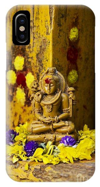 Indian Village iPhone Case - Shiva Devotion by Tim Gainey