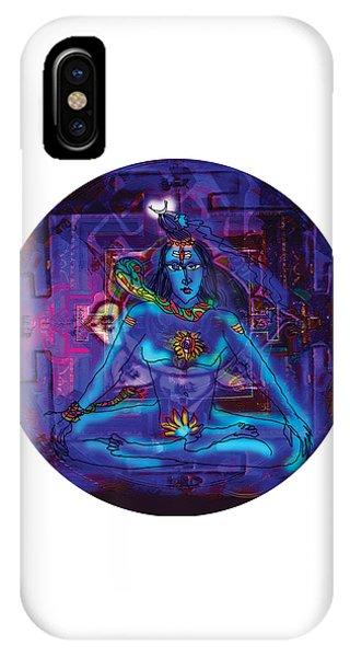 Shiva In Meditation IPhone Case