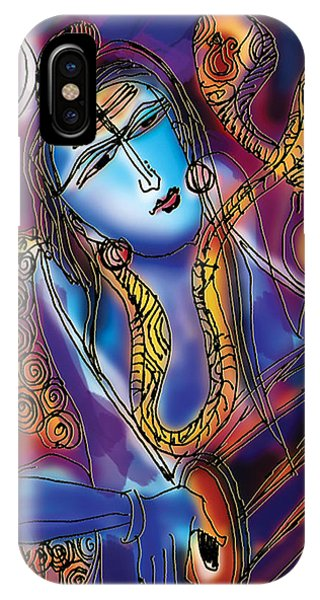 Shiva Playing The Drums IPhone Case