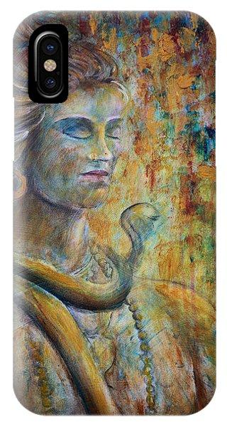 Shiva2-upclose-portrait IPhone Case