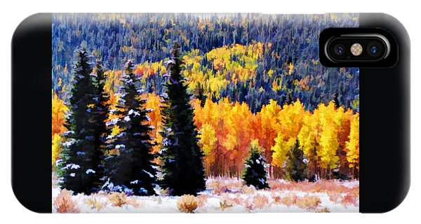 Shivering Pines In Autumn IPhone Case