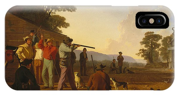 Shooting iPhone Case - Shooting For The Beef by George Caleb Bingham