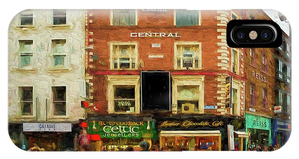 shopping on Grafton Street in Dublin IPhone Case