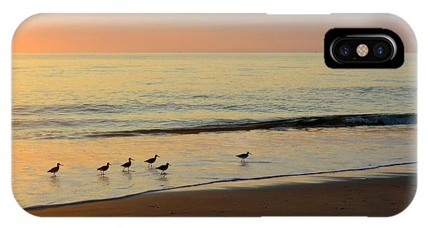IPhone Case featuring the photograph Shorebirds 9/4/17 by Barbara Ann Bell