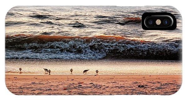 IPhone Case featuring the photograph Shorebirds by Lars Lentz