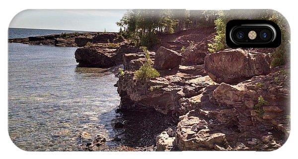 Shoreline In The Upper Michigan IPhone Case