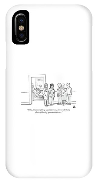 Short Of Dressing Up As Male Doctors IPhone Case